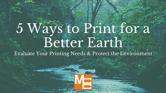 5 Ways to Print for a Better Earth