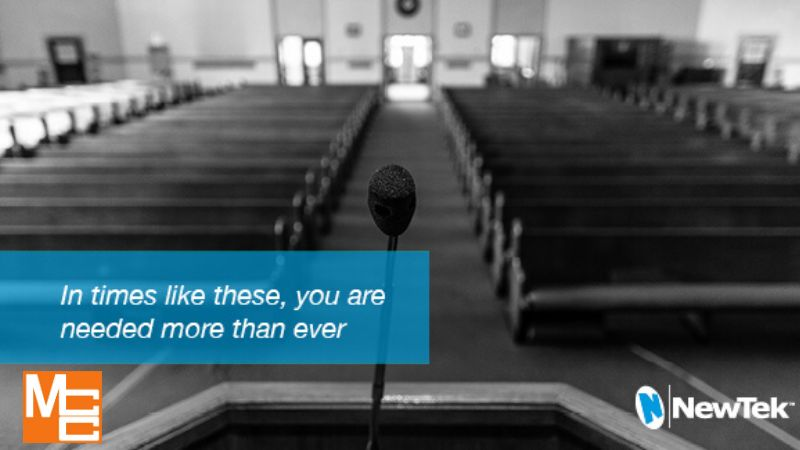 empty house of worship - video live streaming MCC and Newtek