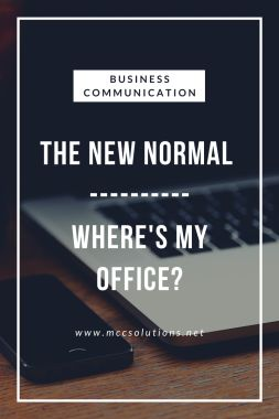 The New Normal Where's My Office Blog post graphic