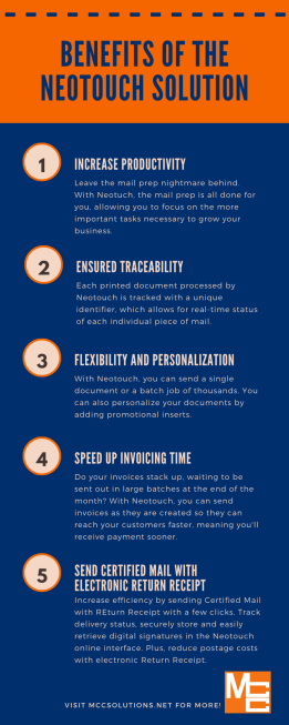 Benefits of Neotouch infographic